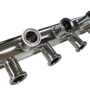 Angled Tri-Clamp Ported Manifold